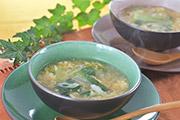 チンゲン菜と卵の生姜とろとろスープ
