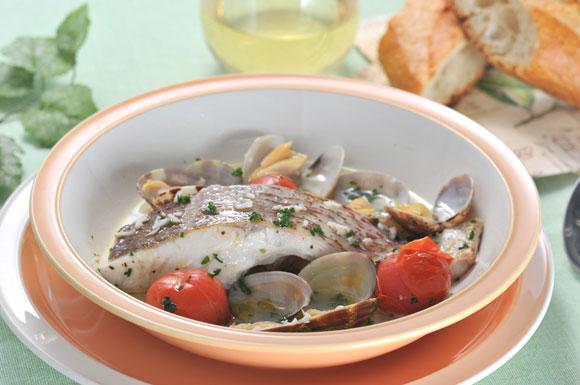 今週のうどんレシピ「うどんスープdeアクアパッツァ」