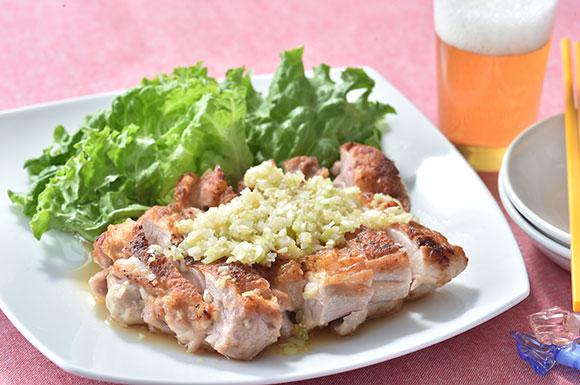 今週のうどんレシピ「ヘルシー油淋鶏」