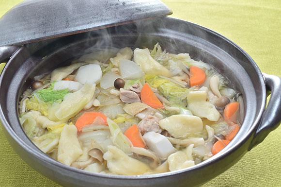 今週のうどんレシピ「煮込みすいとん鍋」