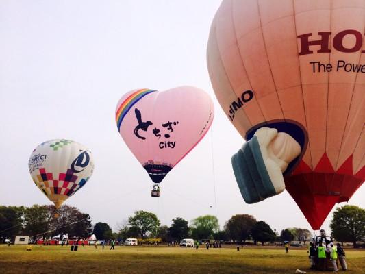 体験搭乗で使用された気球