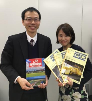 取材でTBSまで来て下さった「鉄道貨物協会」の田端努さんと阿部真澄