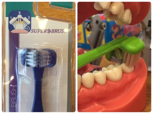 ガッシリ歯を包み込んで磨く!