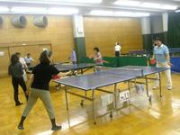 港区スポーツセンターで行われた卓球の教室