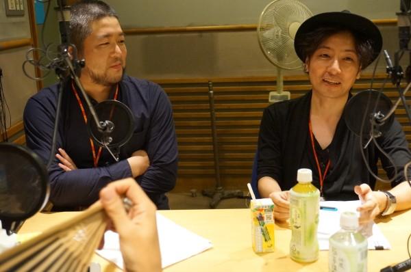 会田大也さん&海猫沢めろんさん(撮影:ササキミチヨ)