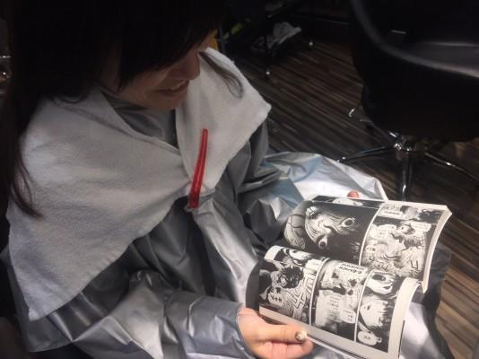 ▲初めてのブリーチ、、、を待つ間好きな漫画を読めるのが良い!