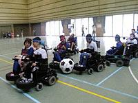 電動車椅子サッカーチームによるエキシビションマッチ