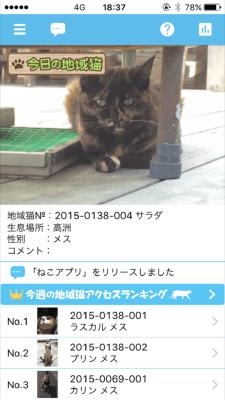 ネコ一覧から選んでクリック!地域ネコの紹介が見られます!
