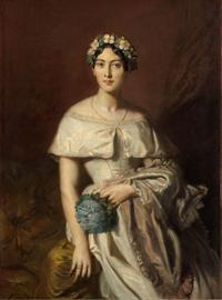 テオドール・シャセリオー<br> 《カバリュス嬢の肖像》<br> 1848年 油彩・カンヴァス カンペール美術館<br> Collection du musée des beaux-arts de Quimper