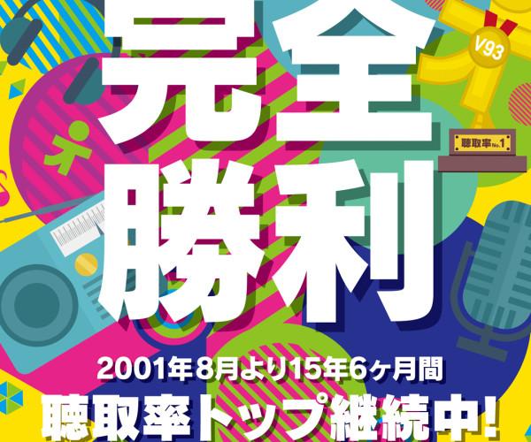 おかげさまで、TBSラジオは連続トップを15年6ヶ月間継続!!