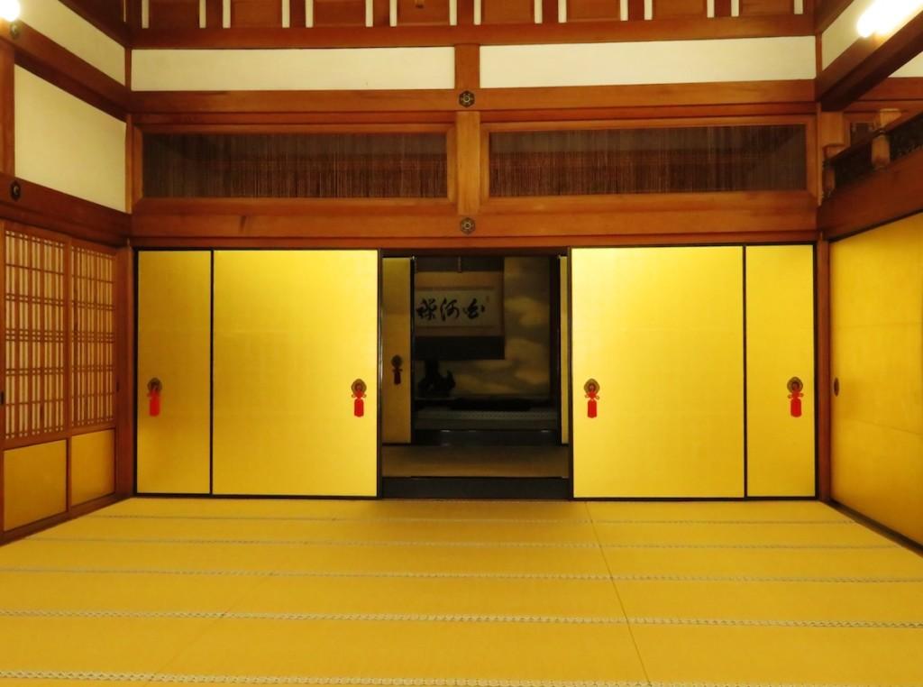 金戒光明寺に残る謁見の間。京都守護職の会津藩はこの寺院に本陣を構え、藩主松平容保は近藤勇らの謁見を受け、新撰組誕生の道を開いた