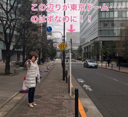 あとちょっとで東京ドームなのに!