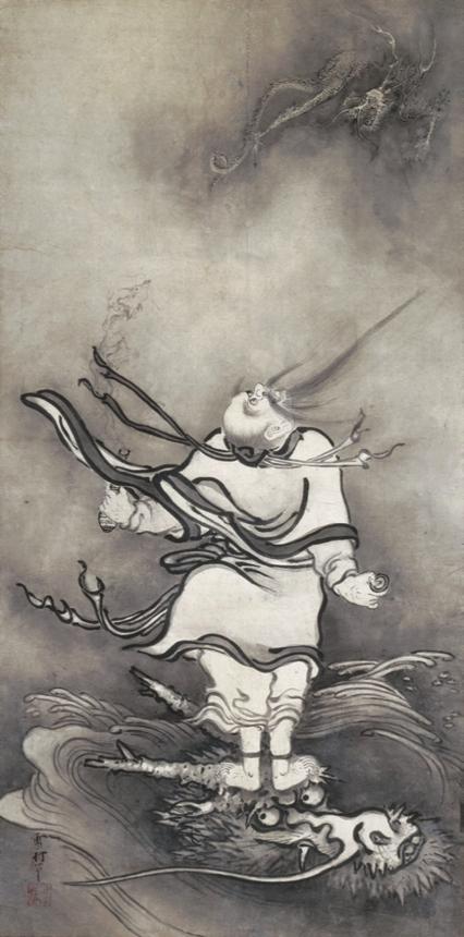 雪村筆『呂洞賓図』_重要文化財_奈良・大和文華館蔵_※3/28~4/23展示