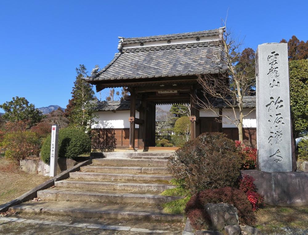 今川勢の追手から逃れるため、亀之丞、後の井伊直親が匿われていた長野県高森町の松源寺