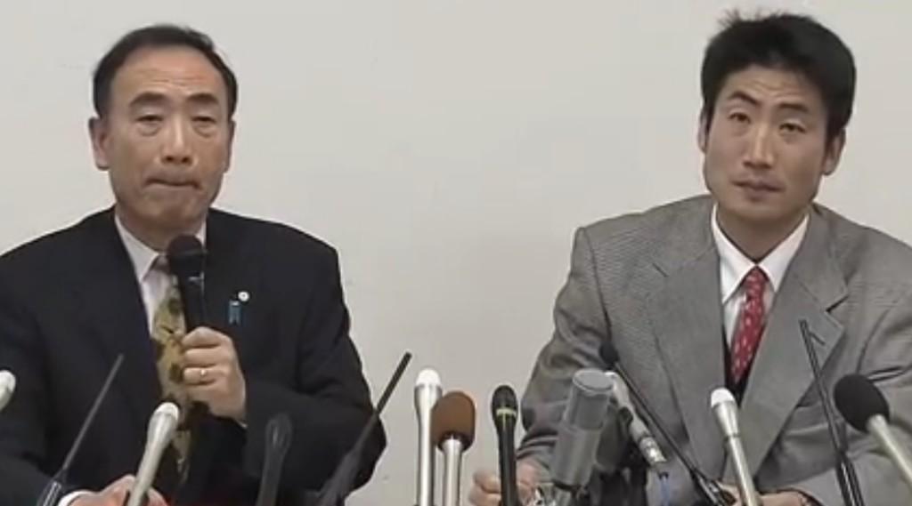 森友学園・籠池泰典理事長(左)と息子・佳茂氏