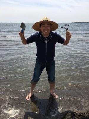 増田さん潮干狩り