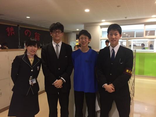 ▲右から白神さん、田村さん、間瀬さんと。