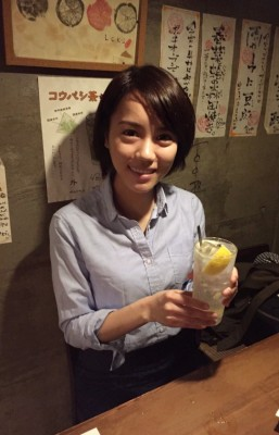高丸さんオススメの瀬戸田のレモン塩de酎!自家製のレモン塩が入っています。
