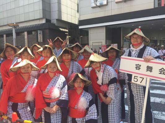 ▲日本舞踊の教室の団体「容舞会」