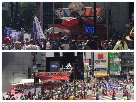 ▲「渋谷・鹿児島おはら祭」すごい人の数です!