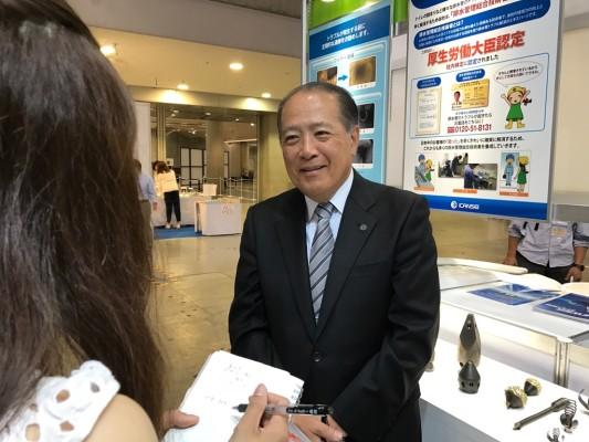 ▲代表取締役社長 長谷川健司さんにインタビュー
