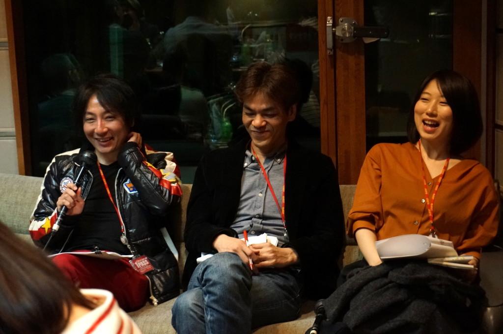 海猫沢めろんさん&斎藤哲也さん&倉本さおりさん (撮影:ササキミチヨ)