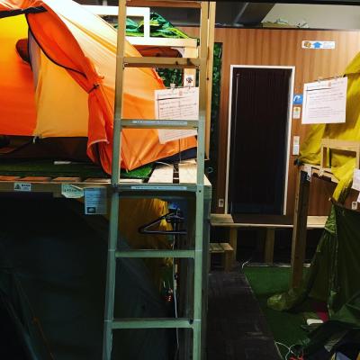 テント、寝袋・マットでキャンプ気分