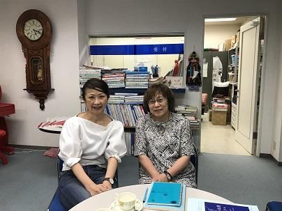 SEPY倶楽部の小林久美子さんと千葉伸子さん