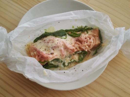 【阪下千恵】鮭のトリプル発酵食品蒸し