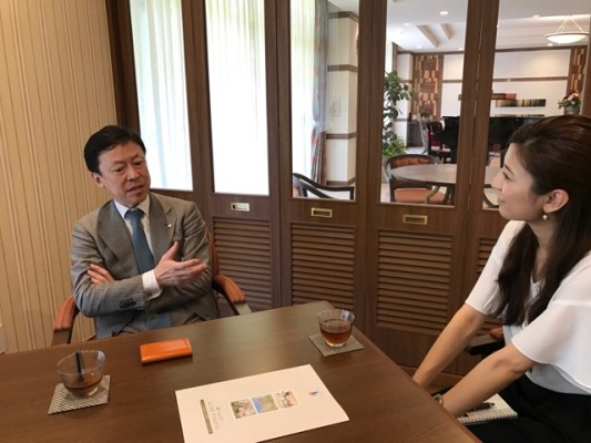 ▲オリックス・リビング株式会社 取締役社長 森川悦明さんと