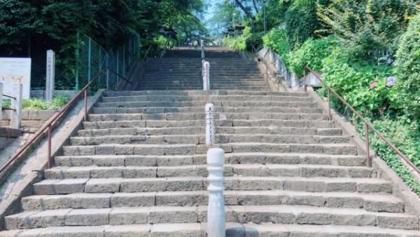 ▲仁王門に続く96段の大階段(此経難持坂)
