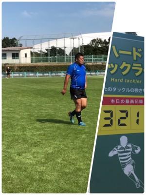 ▲試合中の野村さん、今日の最高記録も出していました。