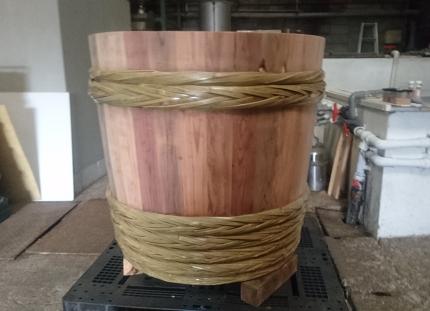 原田さん達が今年作った木桶