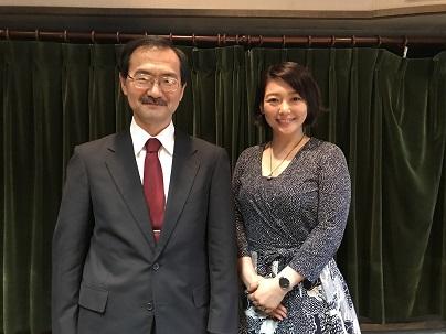 東北大学病院心療内科科長の福土審先生と中澤有美子さん