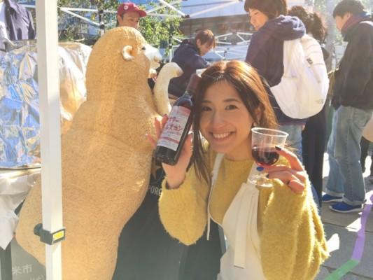 ▲ジンギスカンのために作られた北海道ワイン「ミスタージンギスカン」