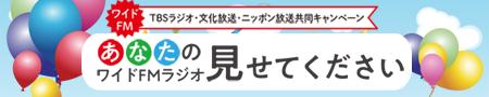 TBSラジオ・文化放送・ニッポン放送共同キャンペーン あなたのワイドFMラジオ見せてください