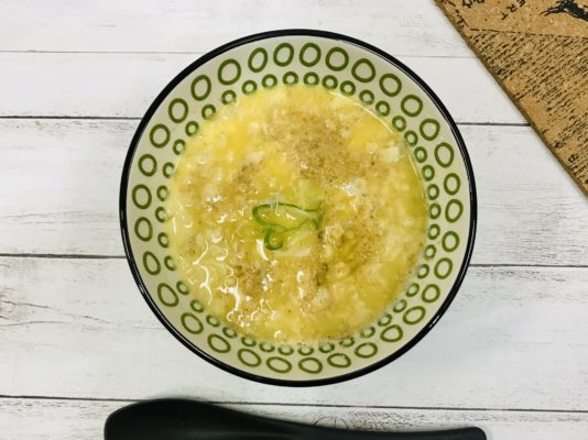 雑炊 オートミール 卵