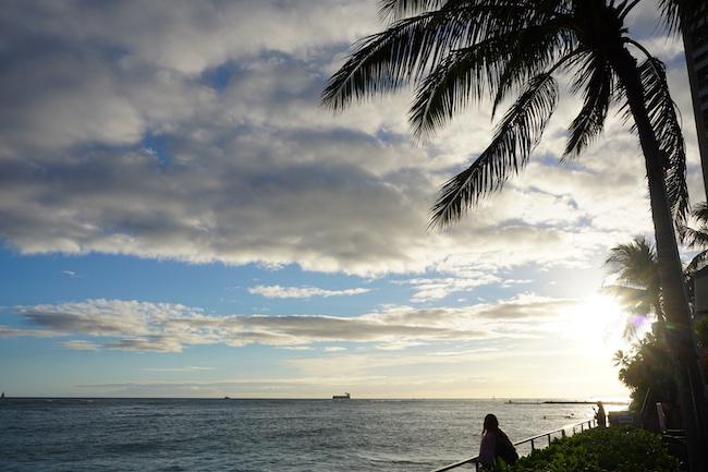 数年前スタッフが訪れたハワイのサンセット